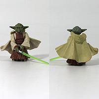 Star Wars Revenge of The Sith Yoda Spinning Attack Action Figure Loose